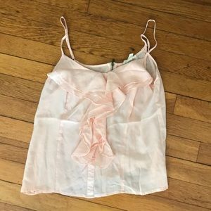 Light pink zip back camisole